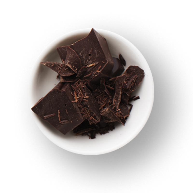 home cioccolato a pezzi